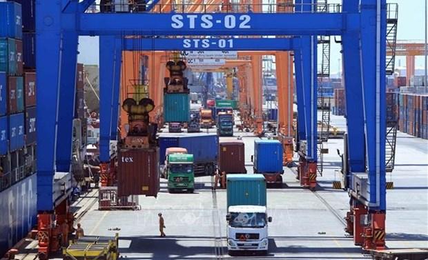 越南与德国企业签署集装箱起重机供应合同 hinh anh 1