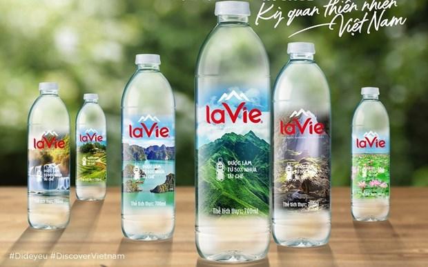越南100个自然奇观在La Vie矿泉水瓶上推介 hinh anh 1