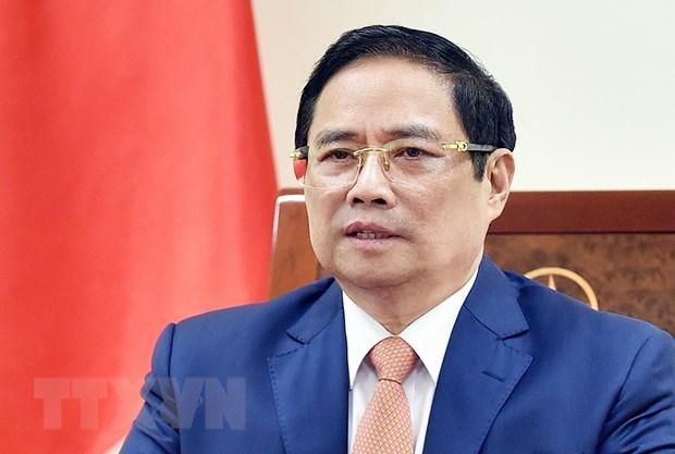 越南政府总理范明政与以色列总理通电话 hinh anh 1