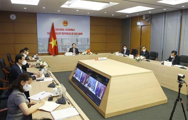 越南国会主席王廷惠与匈牙利国会主席克韦尔•拉斯洛进行线上会谈 hinh anh 2