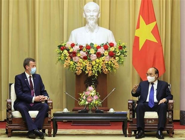 国家主席阮春福会见澳大利亚贸易、旅游和投资部长丹·特汉 hinh anh 2