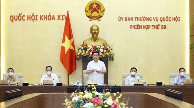 国会常务委员会第58次会议闭幕 完成第十五届国会第一次会议各项准备工作 hinh anh 1