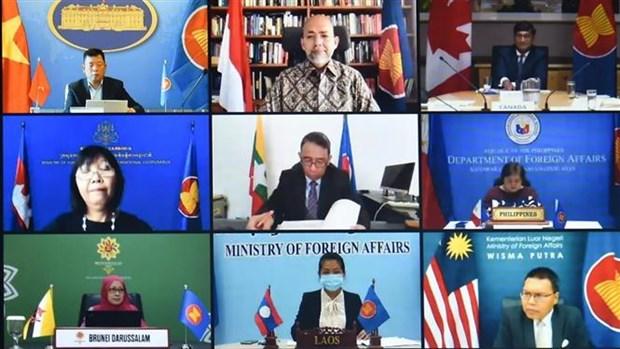 第18次东盟与加拿大对话会以视频形式举行 hinh anh 1