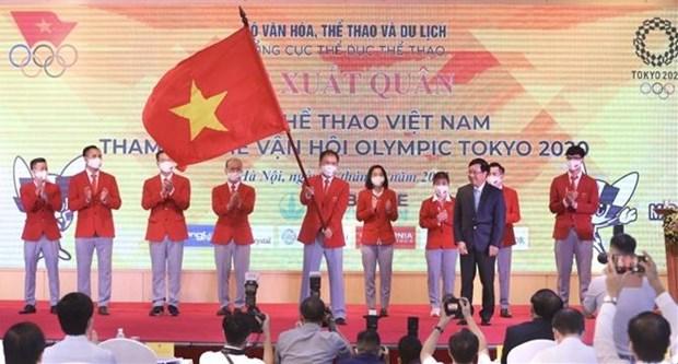 越南奥运代表团7月18日将启程参加2020年东京奥运会 hinh anh 1