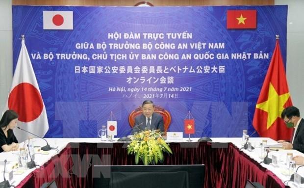 越南公安部与日本国家公安委员会深化合作 hinh anh 1