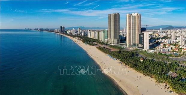 7月15日12时起岘港市暂停海边游泳、体育活动 hinh anh 1