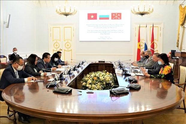 俄罗斯圣彼得堡与越南各地方促进合作 hinh anh 1
