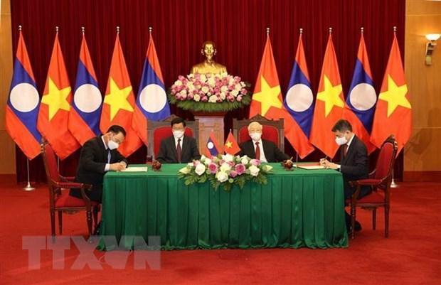 老挝媒体:老越特殊团结与全面合作关系日益密切 hinh anh 1