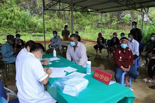 莱州省在边境地区开展新冠疫苗接种 hinh anh 1