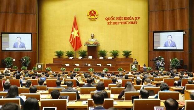 越南第十五届国会第一次会议隆重开幕 hinh anh 1
