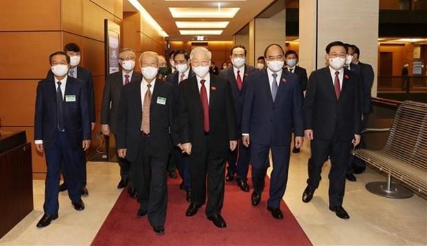 越南第十五届国会第一次会议隆重开幕:为第十五届国会奠定前提并注入强有力动力 hinh anh 1