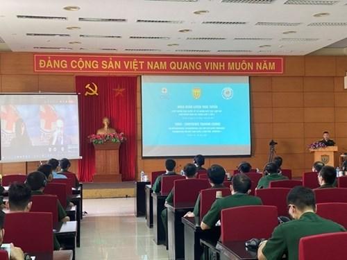 为四号二级野战医院举行《国际人道主义法》和爆炸物识别的线上培训班 hinh anh 1