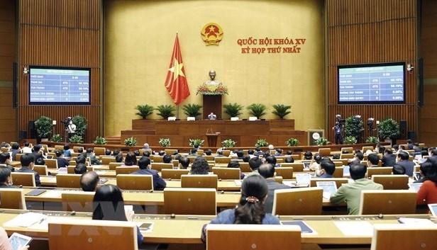 第十五届国会第一次会议:选举国会诸多重要职位 hinh anh 1