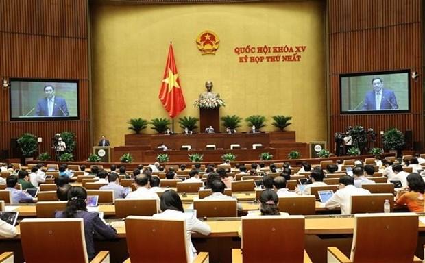 越南第十五届国会第一次会议:任期2021~2026年越南政府组织机构包括18个部委和4个部级机构 hinh anh 1