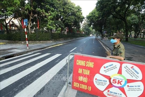 自7月24日6时起河内全市实施社会隔离措施 hinh anh 2