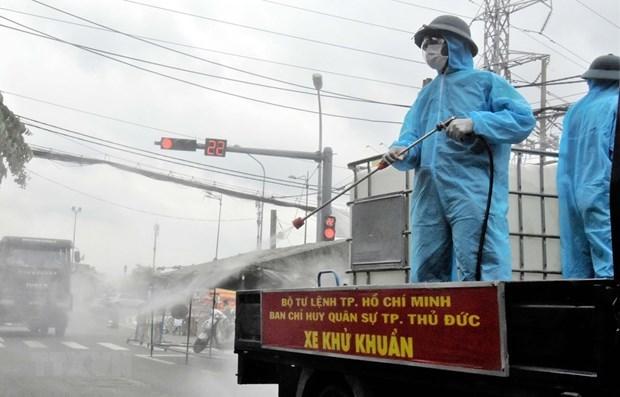 胡志明市上下一心 有效实施各项防疫措施 使城市尽早回到正常轨道 hinh anh 1