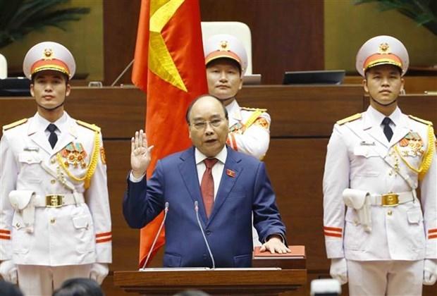 国家主席阮春福宣誓就职 承诺实现国家强大、全面且可持续发展目标 hinh anh 2