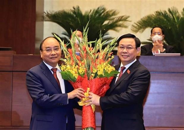 第十五届国会第一次会议:阮春福同志再次当选国家主席职务 hinh anh 2