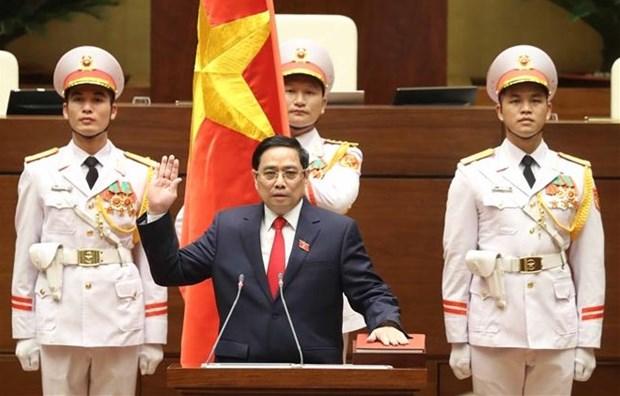 第十五届国会第一次会议:范明政同志继续被推选为政府总理 hinh anh 1