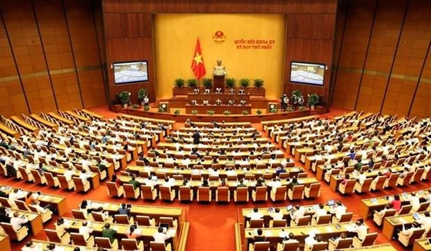 越南第十五届国会第一次会议选举国家主席和政府总理 hinh anh 1