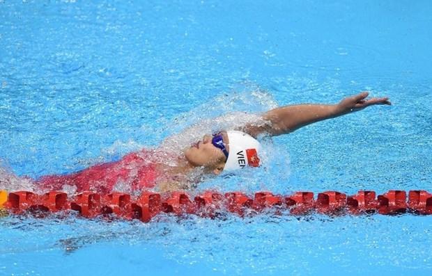 2020年东京奥运会游泳比赛:越南选手阮氏映圆止步于女子200米自由泳预选赛 hinh anh 1