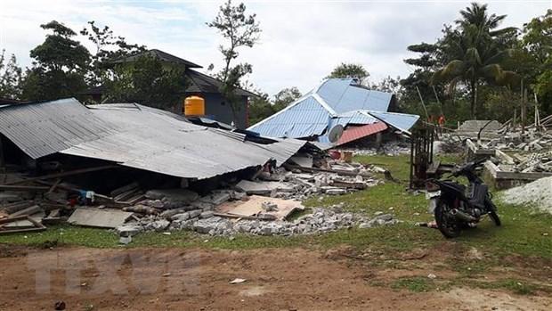 印度尼西亚再次发生强烈地震 hinh anh 1