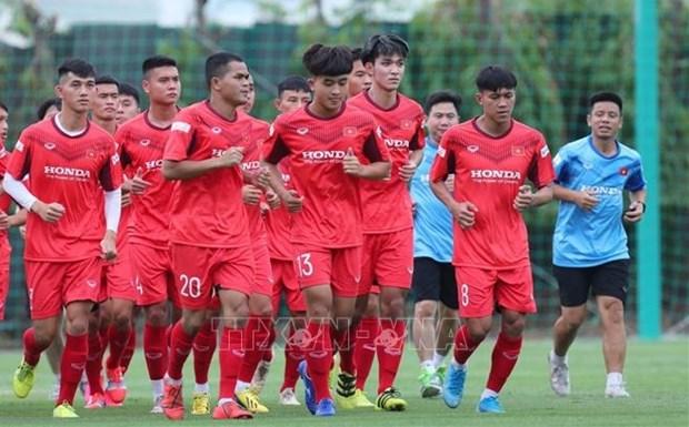 备战2022年乌兹别克斯坦U23亚洲杯预选赛的越南U22足球队将于8月集训 hinh anh 1