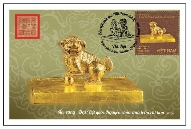 """""""越南国宝之金器""""系列邮票即将发行 hinh anh 1"""