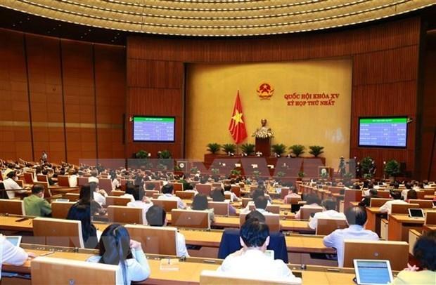第十五届国会第一次会议:通过2021-2025五年经济社会发展计划的决议 hinh anh 1