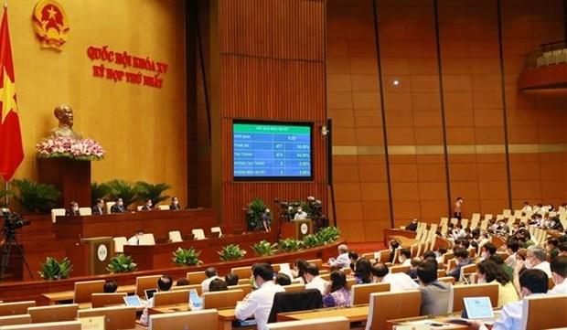 越南第十五届国会第一次会议:通过关于2021~2025年中期公共投资计划的决议 hinh anh 1