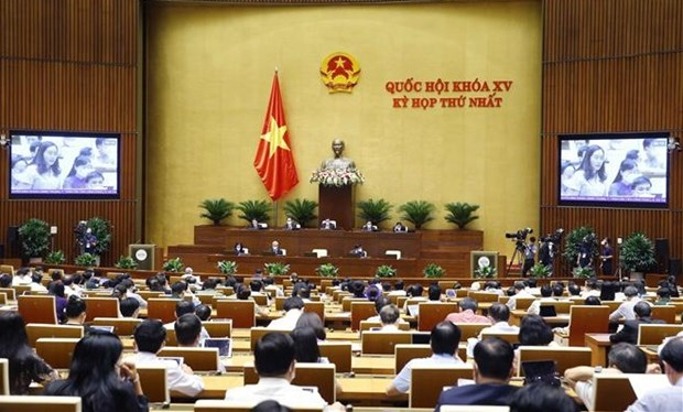 越南第十五届国会第一次会议进入最后一个工作日 hinh anh 1
