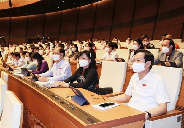 越南第十五届国会第一次会议进入最后一个工作日 hinh anh 2