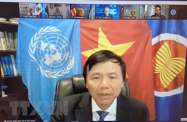 越南与联合国安理会:越南支持将性别层面纳入打击恐怖主义和暴力极端主义各方面 hinh anh 1