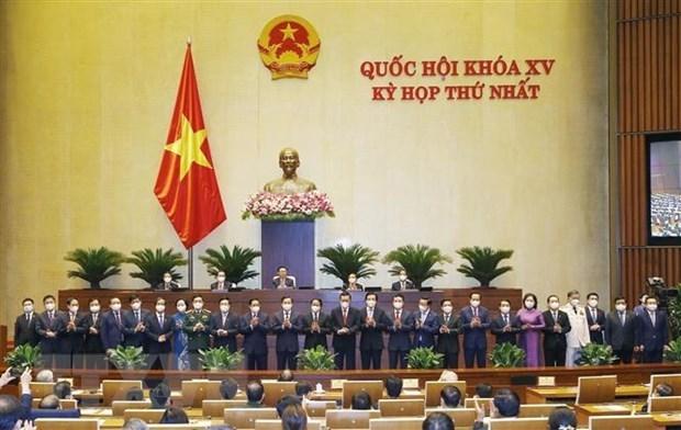 越南第十五届国会第一次会议:批准任命18位部长和4名政府成员 hinh anh 1