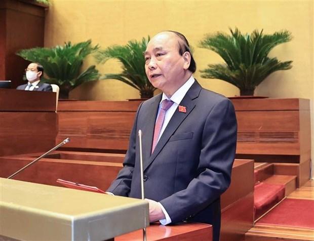 第十五届国会第一次会议:通过批准国防安全委员会副主席及委员的决议 hinh anh 1