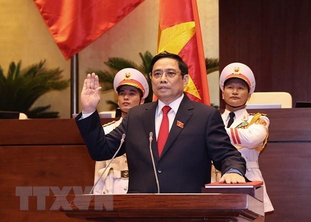 朝鲜内阁总理金德勋致电祝贺范明政当选越南政府总理 hinh anh 1