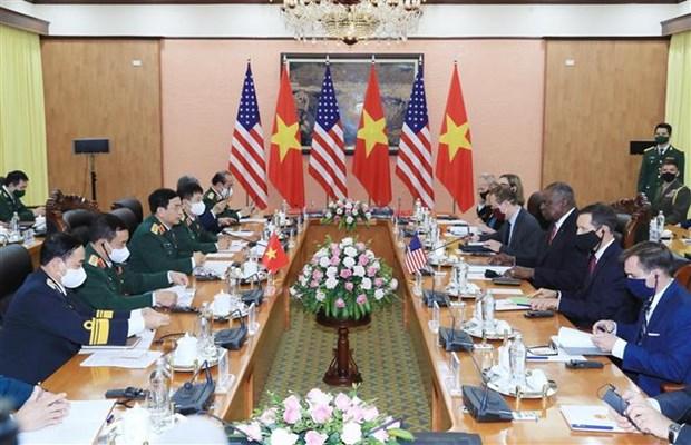 美国国防部部长奥斯汀对越南进行正式访问 hinh anh 2