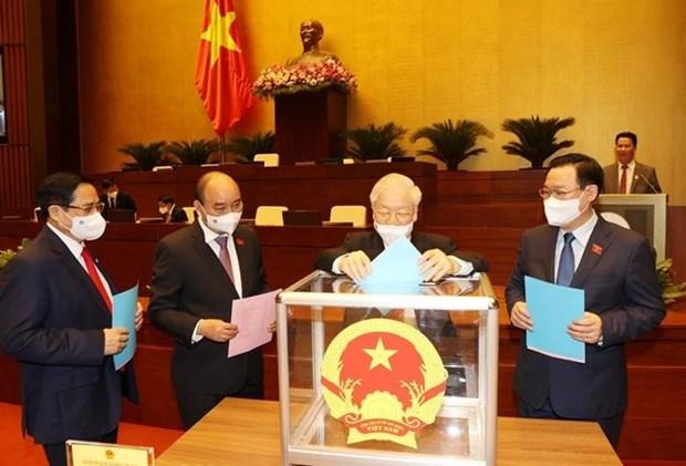 第十五届国会第一次会议:国会批准再次任命4名政府副总理 hinh anh 1