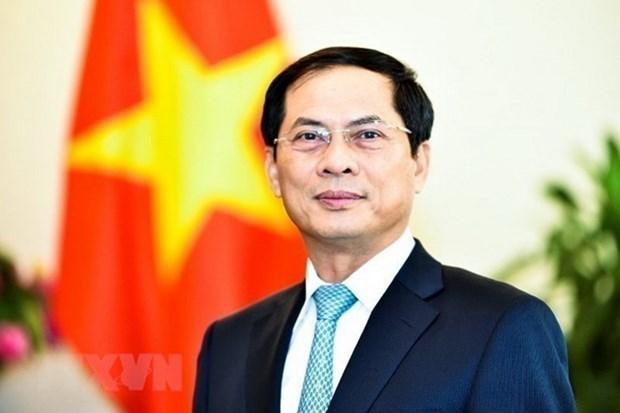 中国外交部长王毅致电祝贺裴青山同志当选越南外交部长 hinh anh 1