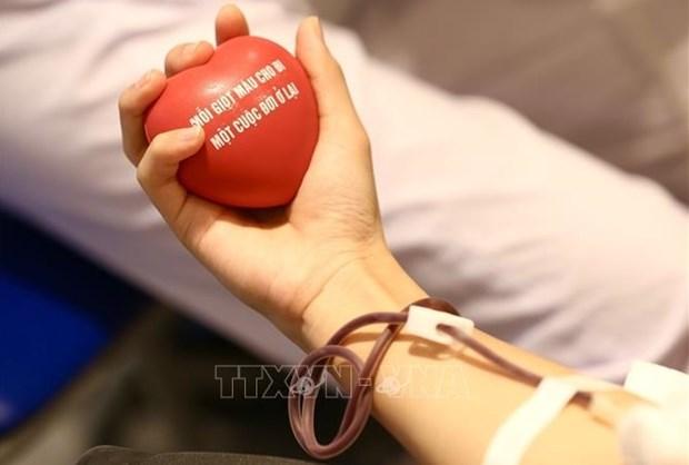 越南国防部启动全军无偿献血活动 hinh anh 1