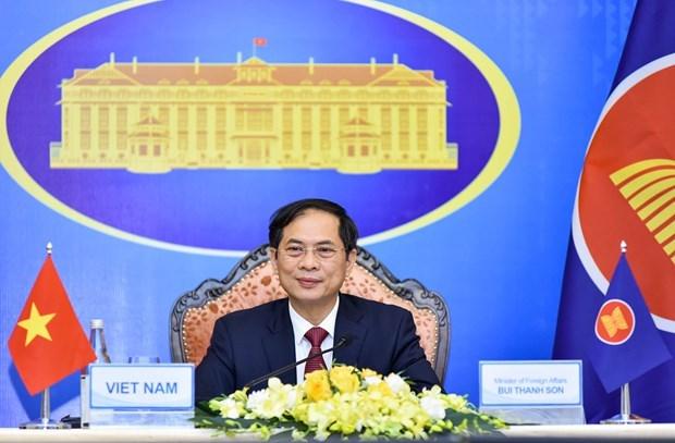越南外长裴青山出席第54届东盟外长会议 hinh anh 2