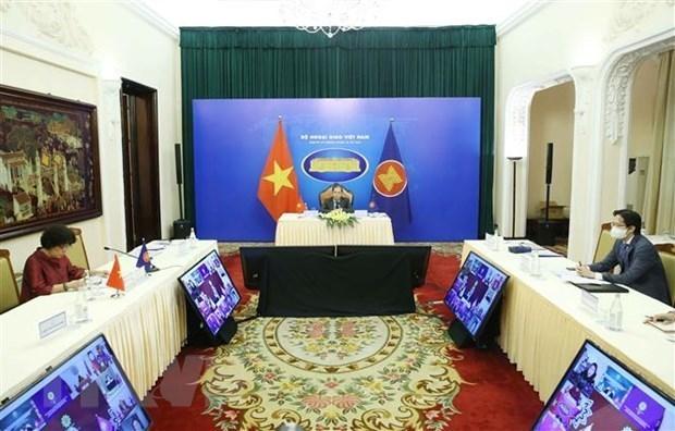 东盟外交部长和东盟政府间人权委员会代表进行磋商 hinh anh 1