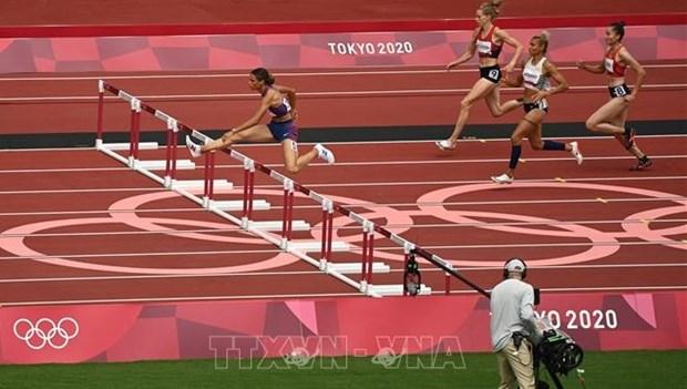 越南选手郭氏兰未能在田径女子400米跨栏半决赛创造奇迹 越南代表团结束本届奥运会征程 hinh anh 1