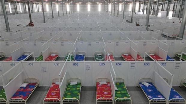 平阳省共设有8300张病床的两家临时野战医院投入使用 hinh anh 1