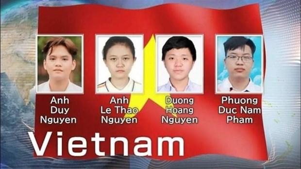 越南在2021年国际化学奥林匹克竞赛中获得3枚金牌 hinh anh 1