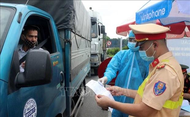 加大对货运司机新冠病毒快速检测力度 hinh anh 1