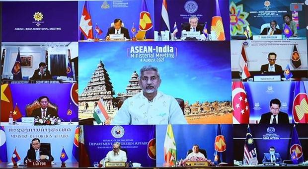 东盟-印度外长会议:相互支持应对和控制疫情的负面影响 促进复苏 hinh anh 2