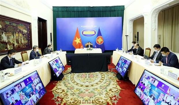 第11届东亚峰会外长会议以线上方式举行 hinh anh 2
