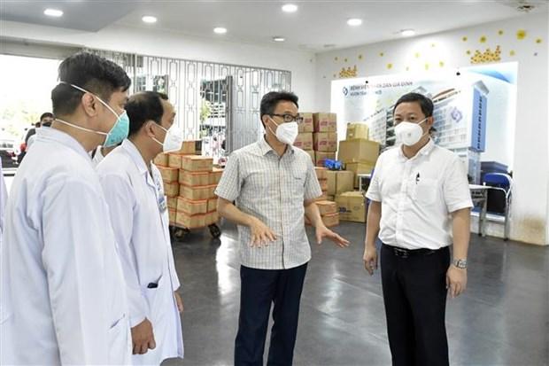 越南政府副总理武德儋:胡志明市全力以赴救治重症和危重症患者 hinh anh 1