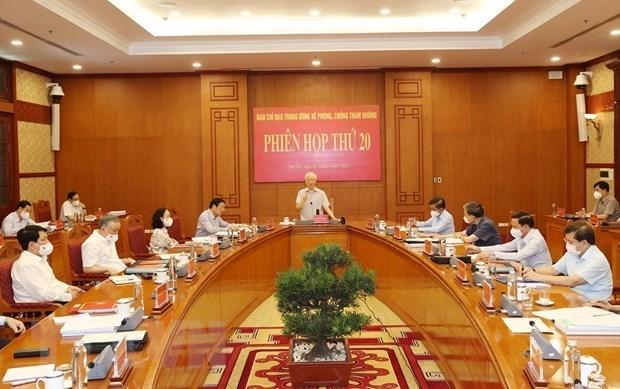 越共中央总书记阮富仲主持召开中央反腐败指导委员会第20次会议 hinh anh 1